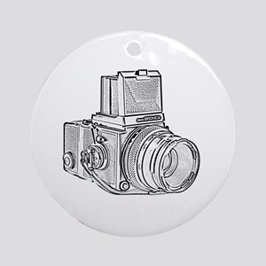 Old school photography Round Ornament