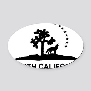 Flag of South California Oval Car Magnet