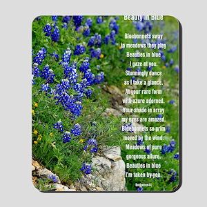 Bluebonnet poem Mousepad