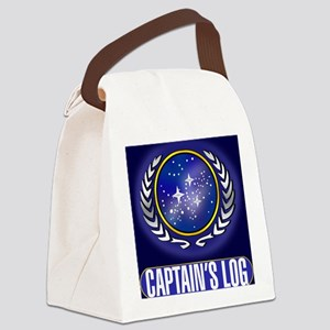 Federation Captains Log (dark) Canvas Lunch Bag