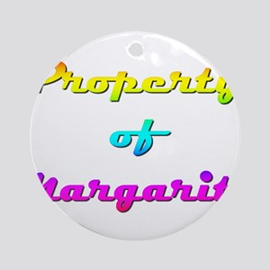 Property Of Margarite Female Round Ornament
