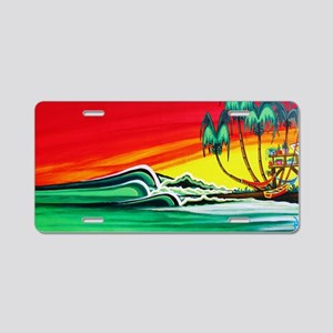 Touch of Paradise Aluminum License Plate