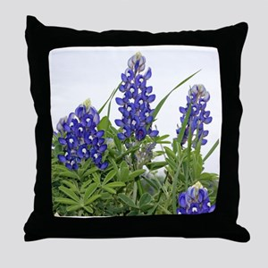 Plain Texas bluebonnets Throw Pillow