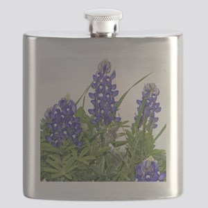 Plain Texas bluebonnets Flask