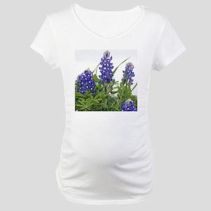 Plain Texas bluebonnets Maternity T-Shirt