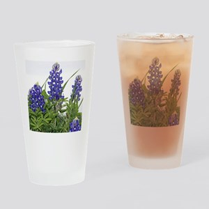 Plain Texas bluebonnets Drinking Glass