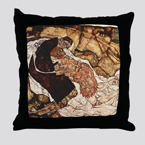 Egon Schiele Death And The Woman Throw Pillow
