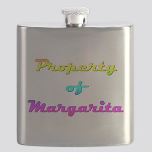 Property Of Margarita Female Flask