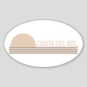 Costa del Sol, Spain Oval Sticker