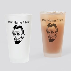 Custom Abraham Lincoln Drinking Glass