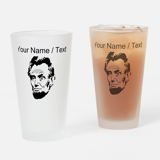 Custom Abraham Lincoln Drinking Glass