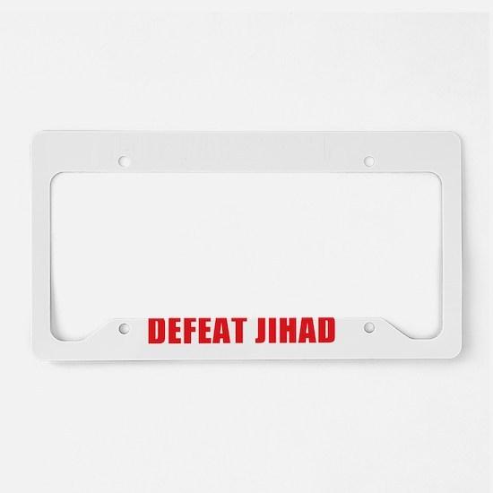 Support Israel, Defeat Jihad License Plate Holder