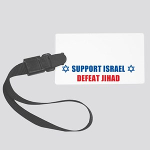Support Israel, Defeat Jihad Large Luggage Tag