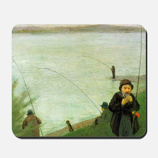 Macke Anglers on the Rhine Mousepad