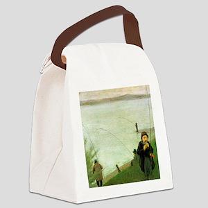 Macke Anglers on the Rhine Canvas Lunch Bag