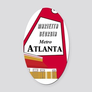 Atlanta_10In12v2_TheBigChicken Oval Car Magnet