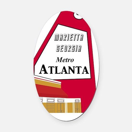 Atlanta_10In12v2_TheBigChicken Oval Car Magnet
