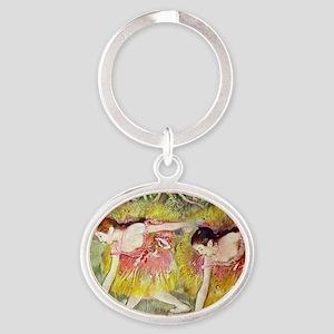 Edgar Degas Ballet Dancers Oval Keychain