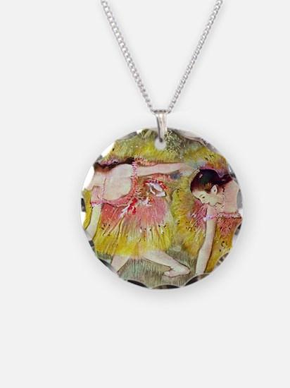 Edgar Degas Ballet Dancers Necklace Circle Charm