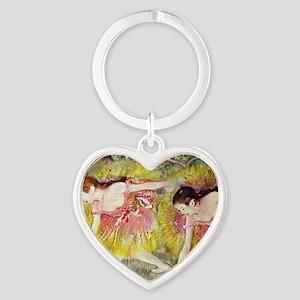 Edgar Degas Ballet Dancers Heart Keychain