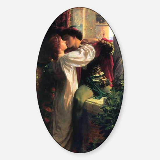 Frank Dicksee Romeo And Juliet Sticker (Oval)