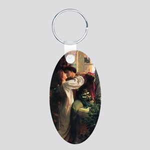 Frank Dicksee Romeo And Jul Aluminum Oval Keychain