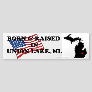 Born And Raised Union Lake Bumper Sticker