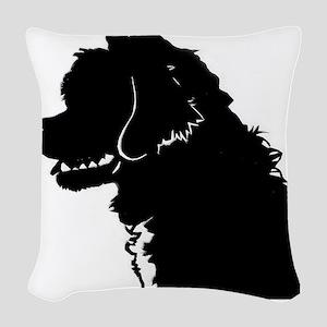Portuguese Water Dog Head Woven Throw Pillow