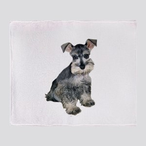 Schnauzer Pup3 Throw Blanket