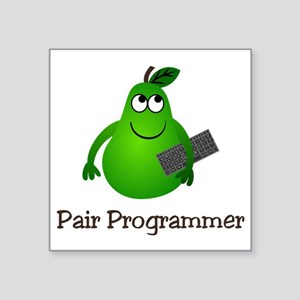 "Pair Programmer Square Sticker 3"" x 3"""