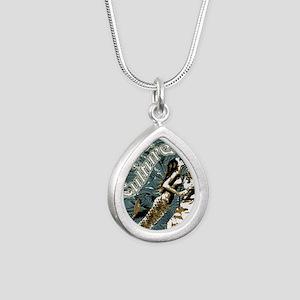 AQUA CULTURE KISS THE DE Silver Teardrop Necklace