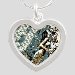 AQUA CULTURE KISS THE DEEP Silver Heart Necklace