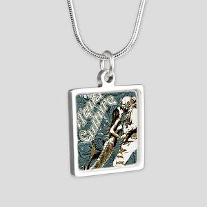 AQUA CULTURE KISS THE DEEP Silver Square Necklace
