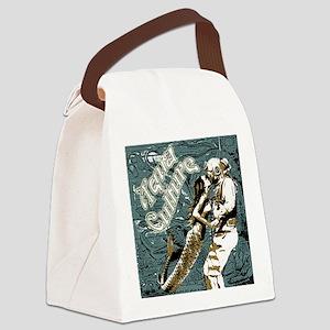 AQUA CULTURE KISS THE DEEP Canvas Lunch Bag