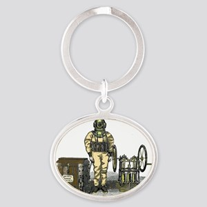 John Date Diving Dress Oval Keychain