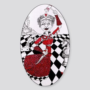 The Red Queen Sticker (Oval)