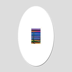 Sarape Sky 20x12 Oval Wall Decal