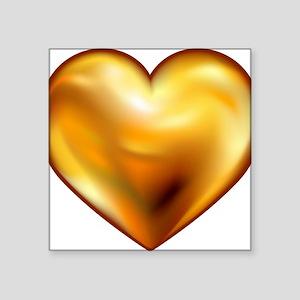 "TRUTH CODES gold heart Square Sticker 3"" x 3"""