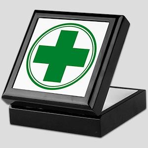 Simple Green Transparent Keepsake Box