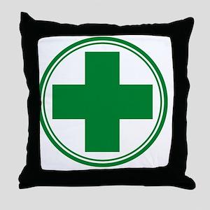 Simple Green Transparent Throw Pillow
