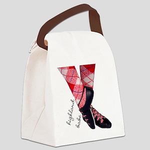 Highland babe tartan legs Canvas Lunch Bag