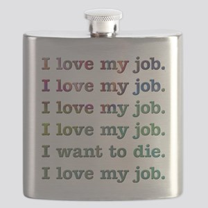 I love my job Flask