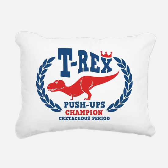 t-rex-push-ups-LTT Rectangular Canvas Pillow