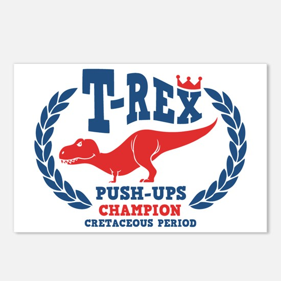 t-rex-push-ups-LTT Postcards (Package of 8)