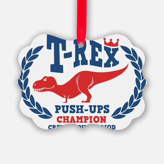 t-rex-push-ups-LTT Ornament