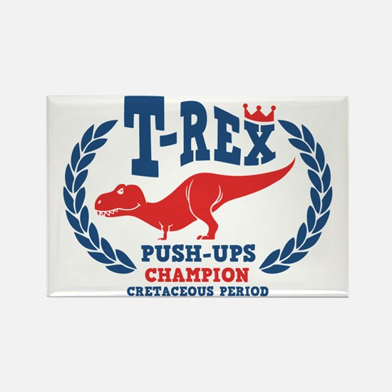t-rex-push-ups-LTT Rectangle Magnet