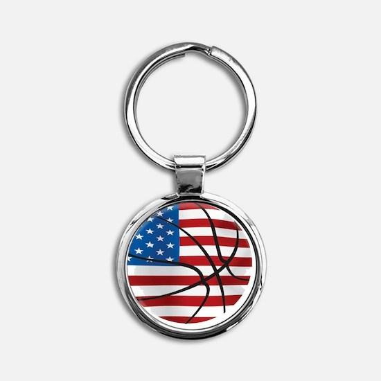 USA Basketball Round Keychain