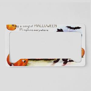 SongOfHalloweenGreetCard-a License Plate Holder