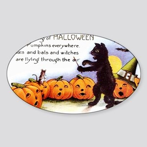SongOfHalloweenGreetCard-a Sticker (Oval)
