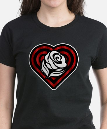 Flower Heart Women's Dark T-Shirt